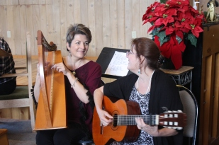 Sisters play music for worship