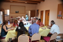 After worship pot-luck lunch to recognize the gifts of Pamela, the church organist, as she moves on to another church.