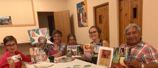 Our collage creations at Community Table